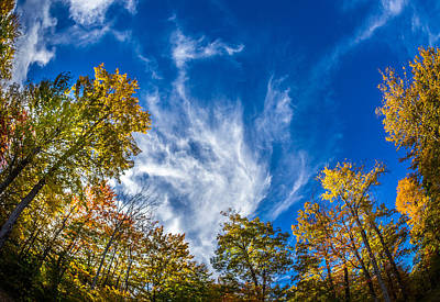 Finger Lakes Fall Day Print by Gary Fossaceca