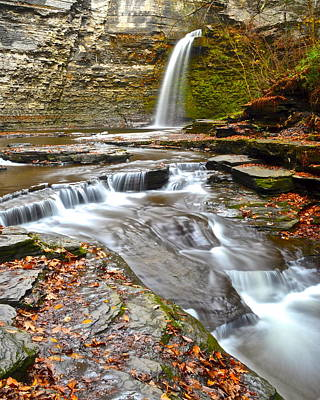 Finger Lakes Waterfall Print by Frozen in Time Fine Art Photography