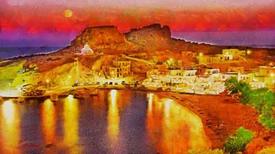 Surreal Painting - Finiki Karpathos by George Rossidis