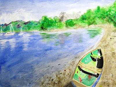 Water Painting - Dunstaffnage by Denise Railey