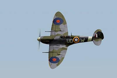 Raf Photograph - Finucane's Spitfire by Gary Eason