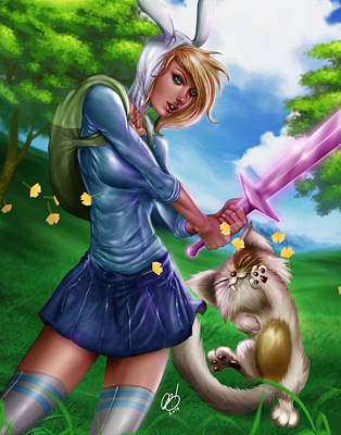 Fionna Painting - Fionna And Cake by Pete Tapang