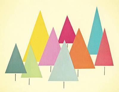 Fir Trees Print by Cassia Beck