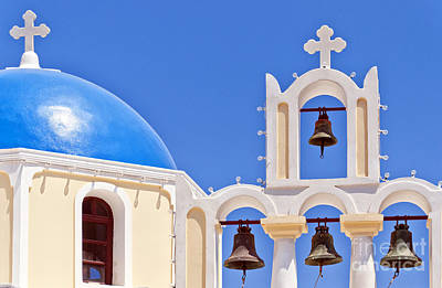 Fira Church 04 Print by Antony McAulay
