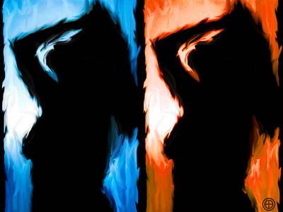 Boobies Digital Art - Fire And Ice by Jorge Estrada