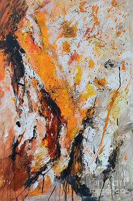 Fire And Passion - Abstract Print by Ismeta Gruenwald