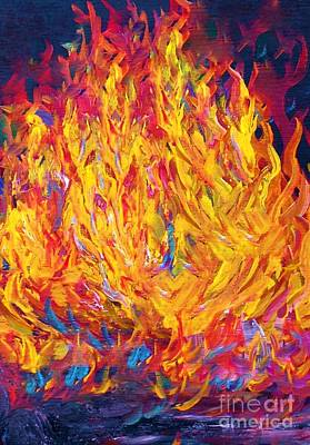 Intense Painting - Fire And Passion - Here's To New Beginnings by Eloise Schneider
