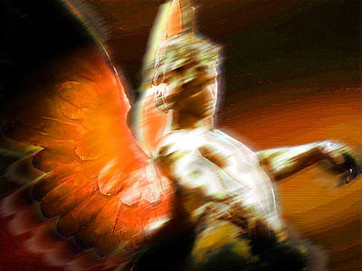 Religious Art Mixed Media - Fire Angel 2 by Tony Rubino