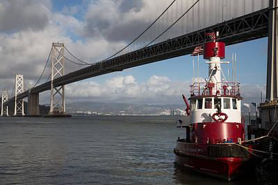 Fireboat Photograph - Fire Boat #2 by John Daly