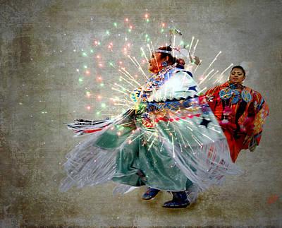 4th July Digital Art - fire Dance by Irma BACKELANT GALLERIES