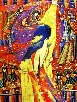 Venice Carnival. Fire Dance Original by Semenyuk Evgeny
