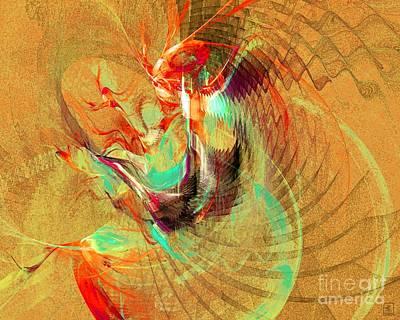 Liander Art Digital Art - Fire Dancer by Jeanne Liander
