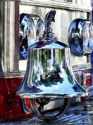 Fire Photograph - Fire Engine Bell Closeup by Susan Savad