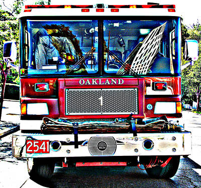 Fire Engine Study 1 Print by Samuel Sheats