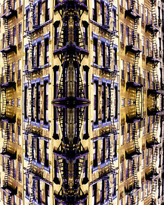 Fire Escapes - New York City Print by Linda  Parker