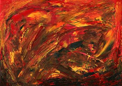 Antea Painting - Fire From Within by Antea