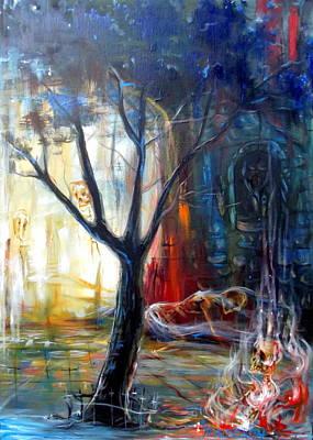 Fire Gate Print by Heather Calderon