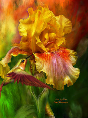 Iris Mixed Media - Fire Goddess by Carol Cavalaris