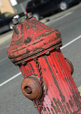 Red Photograph - Fire Hydrant by Lisa Phillips