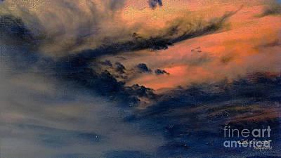 Burning Bush Digital Art - Fire In The Hills by Chris Armytage