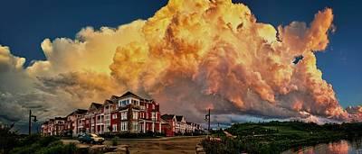 Cloudscape Digital Art - Fire In The Sky by Jeff S PhotoArt