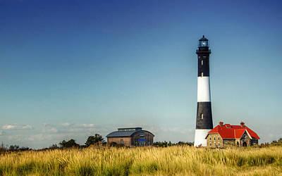 Fire Island Lighthouse Panorama Print by Vicki Jauron