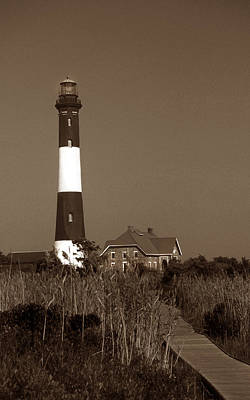 Of Lighthouses Photograph - Fire Island Lighthouse by Skip Willits