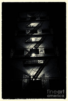 Filmnoir Photograph - Fire Ladders Park Slope New York City by Sabine Jacobs