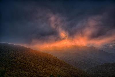 Fire On The Mountain Print by John Haldane