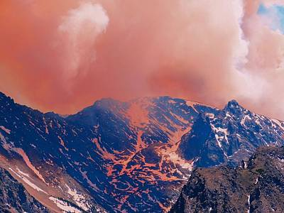 Fire On The Rocky Mountains Print by Dan Sproul