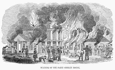 Flame Point Painting - Fire Point Shirley, 1851 by Granger