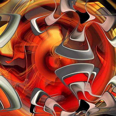Music Painting - Fire Red Heart by Roy D Erickson