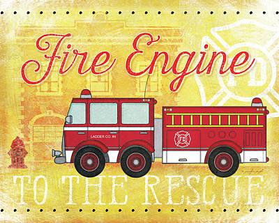 Fire Rescue Print by Jennifer Pugh