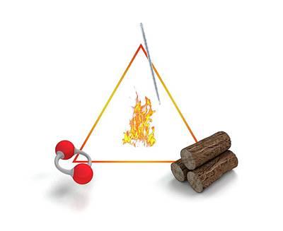 Fire Triangle Print by Mikkel Juul Jensen