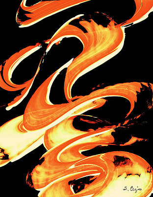 Warm Painting - Fire Water 314 By Sharon Cummings by Sharon Cummings