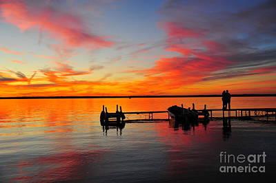 Boat Photograph - Firecracker Sunset 32 by Terri Gostola