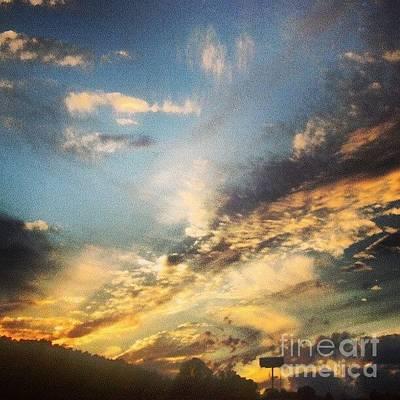 Firecracker Sunset Original by Genevieve Esson