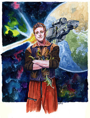 Television Painting - Firefly Wash by Ken Meyer jr