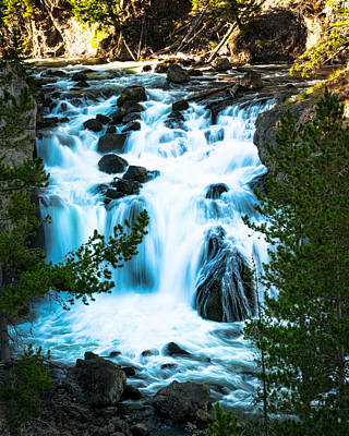 Photograph - Firehole Falls - Yellowstone by R J Ruppenthal