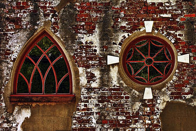 Glass Photograph - Carriage House Windows by Marcia Colelli