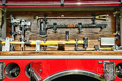 Fireman - Life Saving Tools Print by Paul Ward