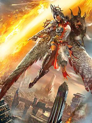 Gathering Digital Art - Firemane Avenger Promo by Ryan Barger