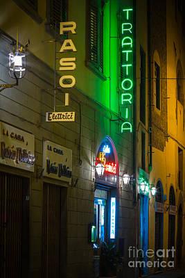 Firenze Neon Print by Inge Johnsson