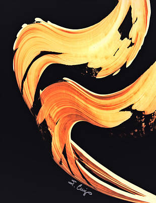 Firewater 5 - Abstract Art By Sharon Cummings Print by Sharon Cummings