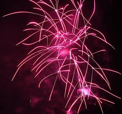 Rockets Red Glare Fireworks Print by Howard Tenke