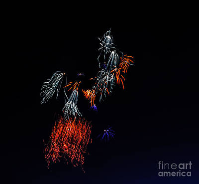 Fireworks Abstract Print by Robert Bales
