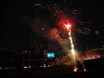 Fireworks At Ballpark Original by David Malberg