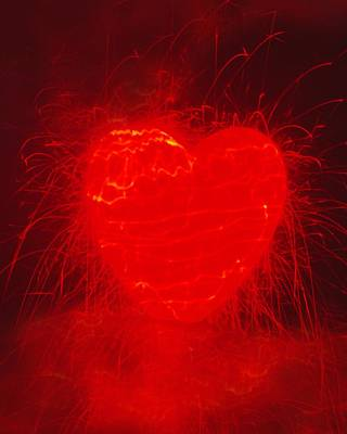 Be My Valentine Digital Art - Fireworks  C2014 by Paul Ashby