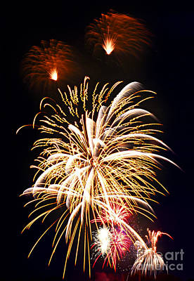 4th Photograph - Fireworks by Elena Elisseeva