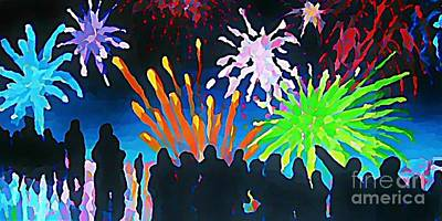 Fireworks In Halifax Print by John Malone